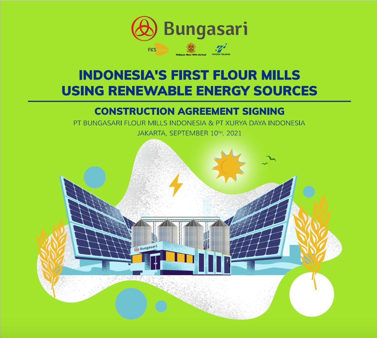 Indonesia's First Flour Mills Using Renewable Energy Sources